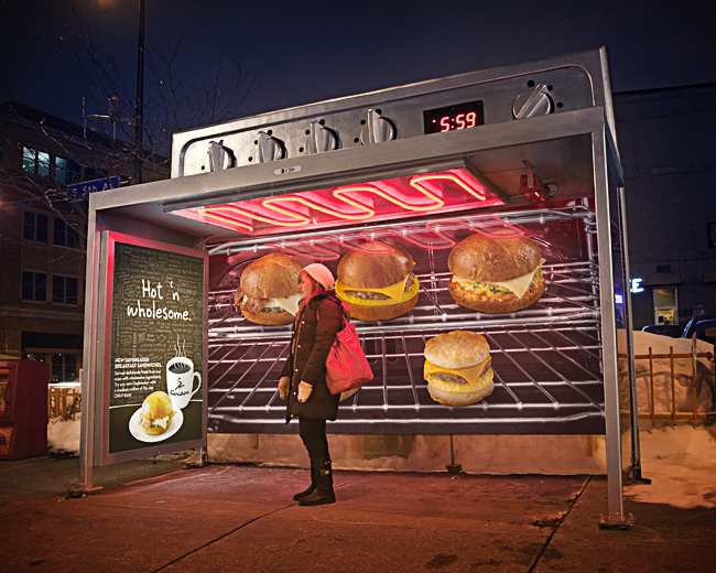 Caribou Coffee Bus Stop designed by Colle+McVoy