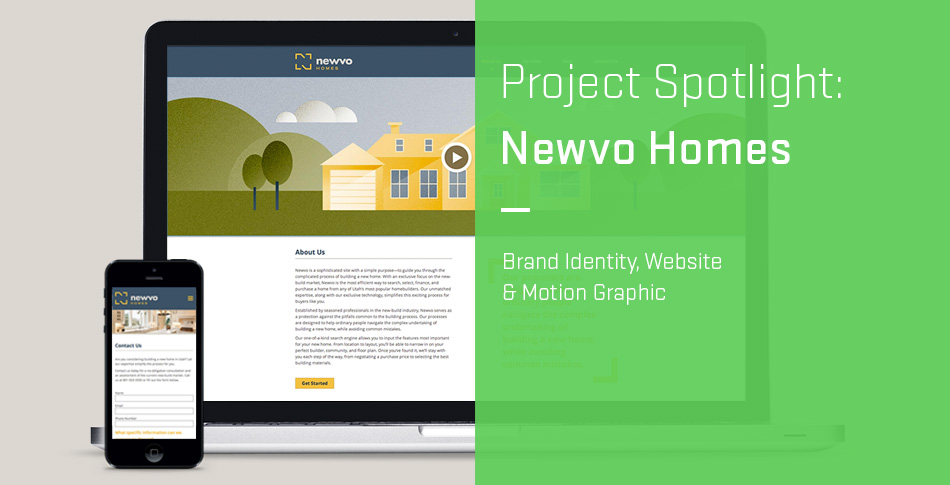 Project Spotlight: Newvo Homes Brand Identity, Website & Motion Graphic